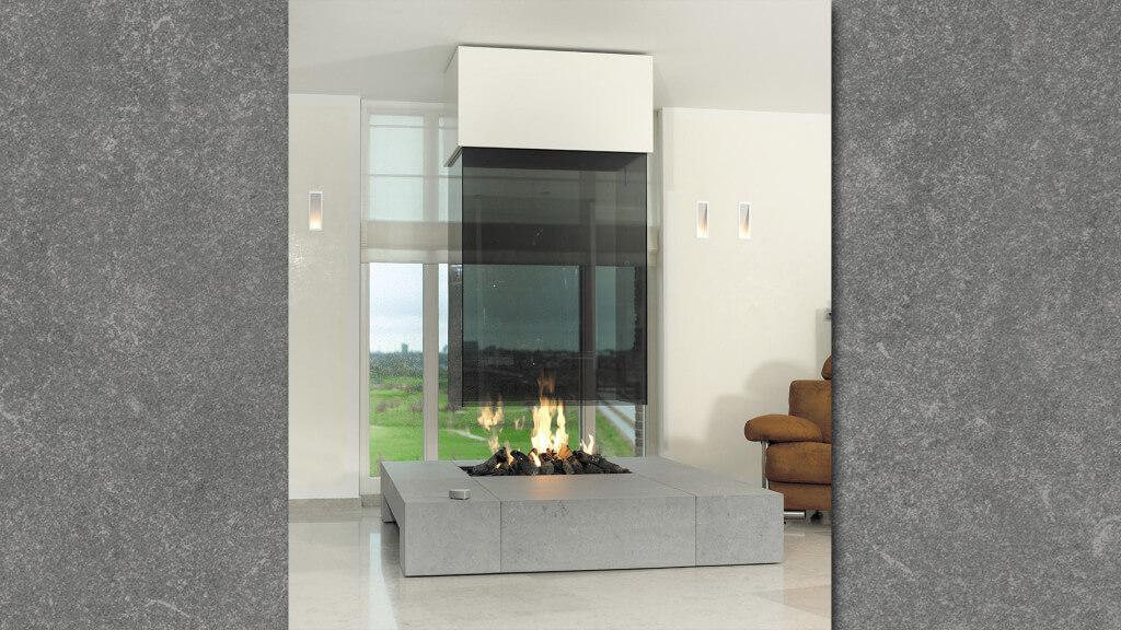 Glas - openhaard- Boley 73BR